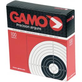 GAMO 100 Cibles Carton 14X14